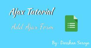add ajax form