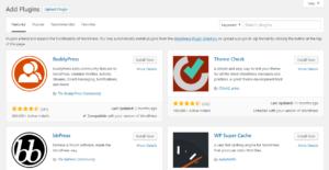 Install a Plugin using WordPress Dashboard Plugin search