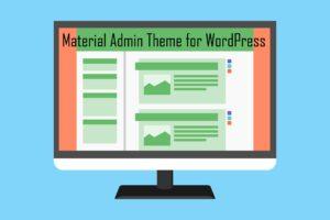Material Admin Theme for WordPress