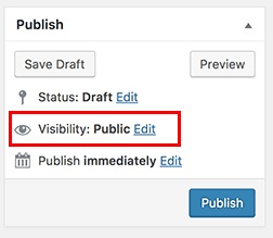 creating a private post in WordPress