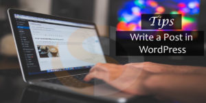 Tips for Quickly writing a post in WordPress