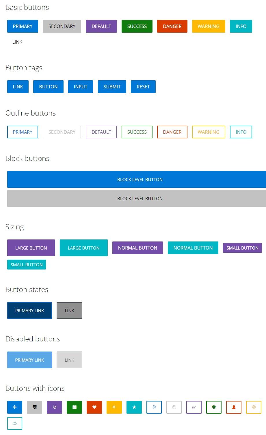 buttons- Fluent Design UI