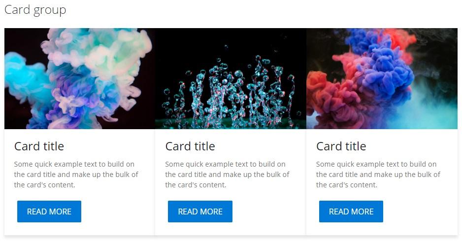 card group- Fluent Design UI