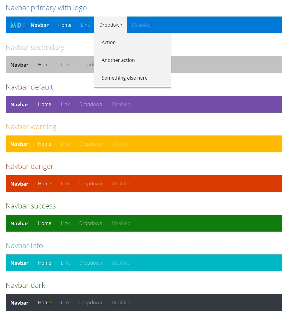 navbar- Fluent Design UI