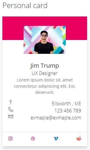 personal Card- Fluent Design UI