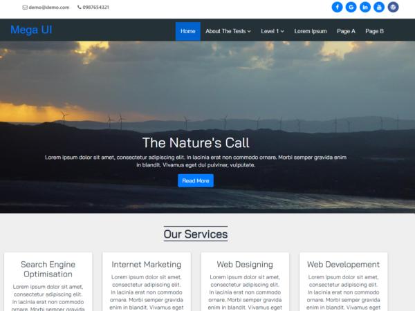 mega-ui WordPress Theme Free