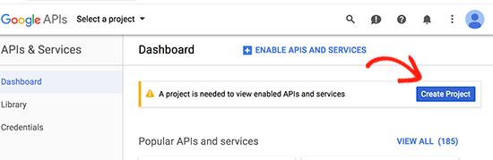 creating api in google APIs