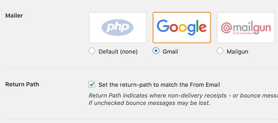setting smtp mailer in plugin