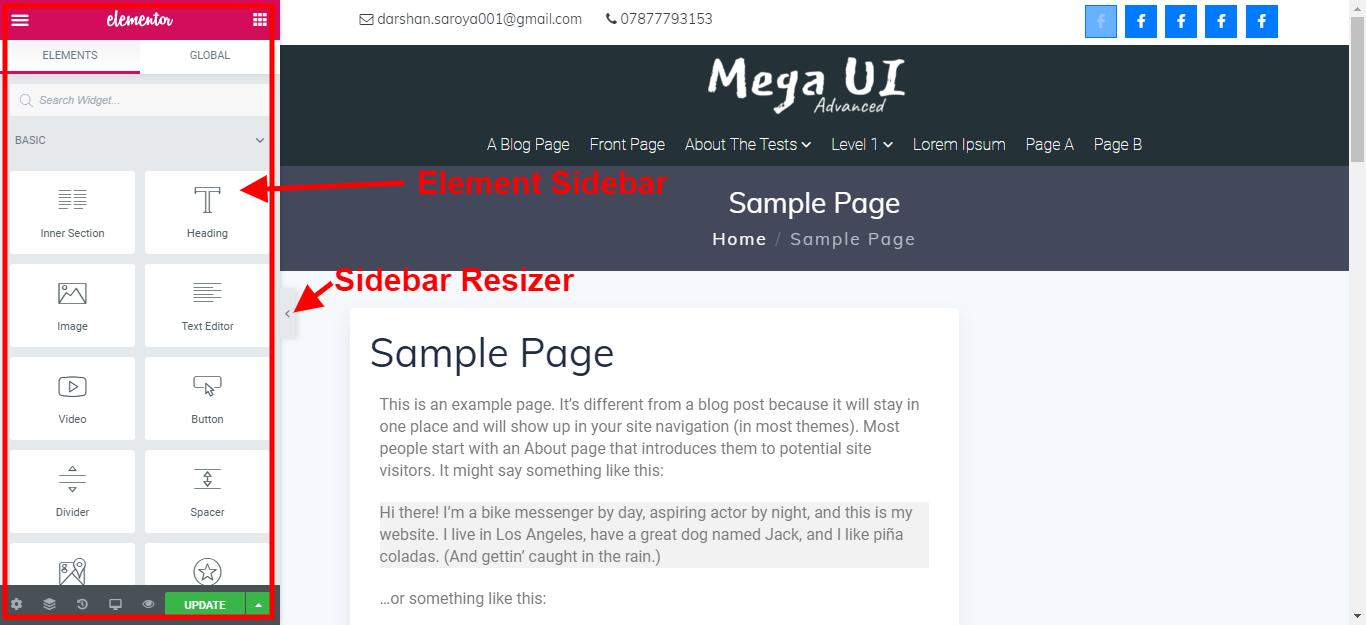 Elementor-user-interface